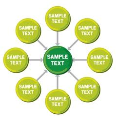 Presentation diagram vector