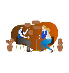 private conversation concept scene two persons vector image