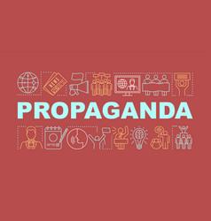 Propaganda word concepts banner electioneering vector