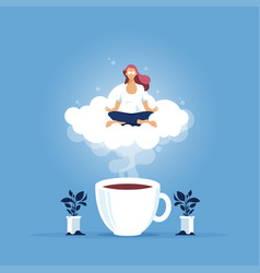 relax at work coffee break vector image