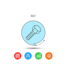 screw icon bolt sign vector image