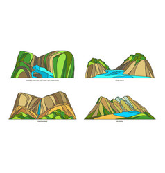Set signs for canadian natural monuments vector