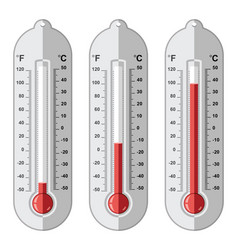 set thermometers vector image