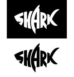 Shark logo design vector