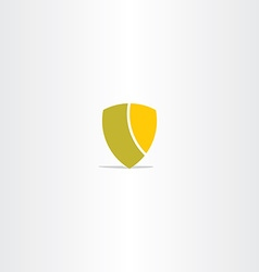 shield simple icon design vector image