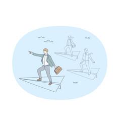 success leadership business development concept vector image
