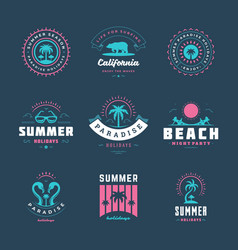 Summer holidays typography inspirational quotes vector
