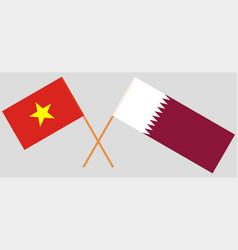 The qatari and vietnamese flags vector