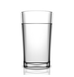 Transparent glass of water vector