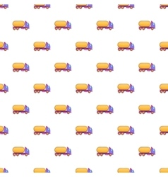 Truck carries petrol pattern cartoon style vector
