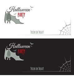 Two Halloween leaflet cards vector