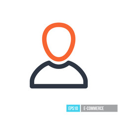 user icon vector image