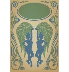 Vintage affiche with attractive samba queen vector