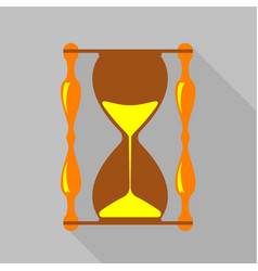 vintage hourglass icon flat style vector image