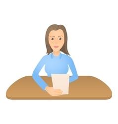 Woman presenter icon cartoon style vector image