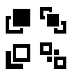 Arrange set vector image vector image