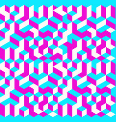 cubes seamless pattern vector image