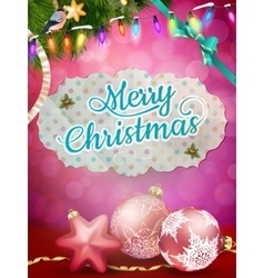 Elegant christmas background EPS 10 vector image vector image