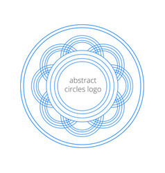 geometrical logo template created from the circles vector image