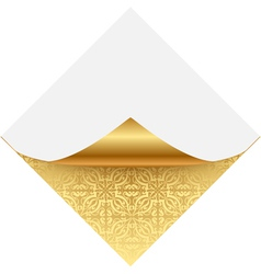 Gold ornate note paper vector image vector image