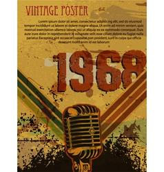 grunge retro concert poster vector image