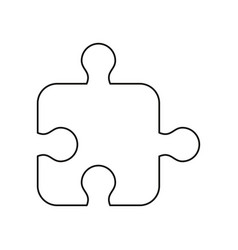 puzzle strategy creativity abstract thin line vector image