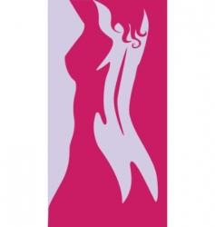 beautiful artwork nude woman silhouette vector image vector image