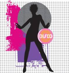 collage dancer vector image