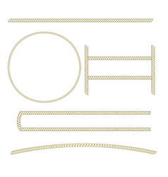 Rope sign set vector