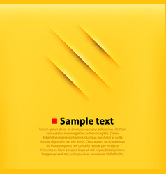 scratches yellow background vector image