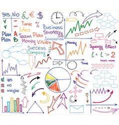 Business materials vector