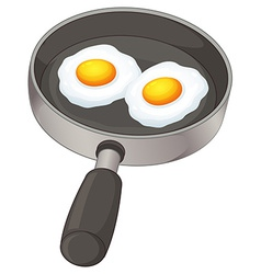 Fried eggs vector image vector image