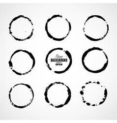 Ink grunge circle frames vector image