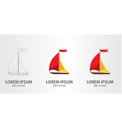 logo ship vector image