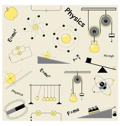 physics elements vector image