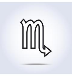 Simplistic scorpio zodiac star sign vector image