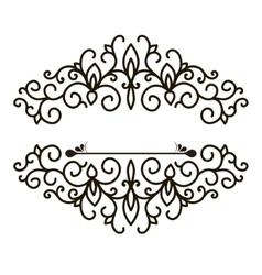 vintage design elements for page border vector image