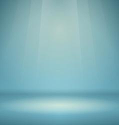 Blue Empty Scene vector image vector image