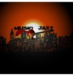 jazz the city vector image