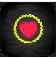 Love Heart Icon on Chalkboard vector image vector image
