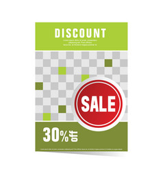poster green with sticker sale vector image