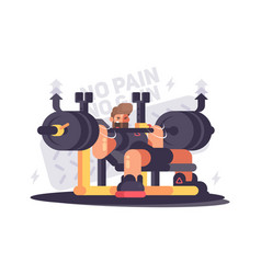 powerlifting athlete in competitions vector image