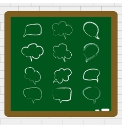 with hand draw speech bubble set vector image