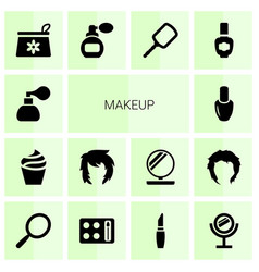 14 makeup icons vector