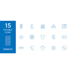 15 website icons vector image