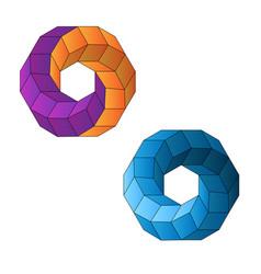 abstract geometry figure vector image