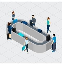 Airport Conveyor Line vector