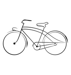 ancient bicycle 0003 vector image