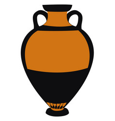 ancient greek vase on white background vector image