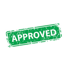 approved sign sticker stamp texture vector image